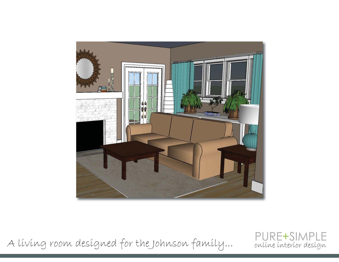 Pure simple online interior design samples interior for Sample living room design